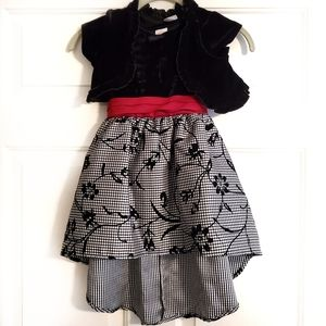 Wonder Nation size 5 dress black white and red